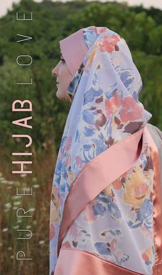 Peach Blossom Hijab by PureHijabLove on Etsy, $35.00