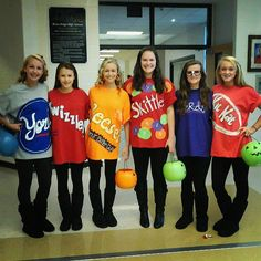 Candy group costume #halloween GUYS this is my sister and her friends! How cool is that?!