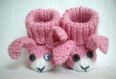 Bunny Rabbit babyslofjes breipatroon