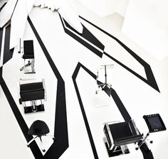 ~ Zaha hadid// fudge pop-up hair salon for London Design Festival | London…