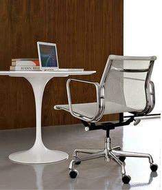 Eames Aluminum Management Chair in Mesh, designed by Charles and Ray Eames for Herman Miller.