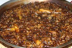 arroz con habas ajos tiernos y chipirones