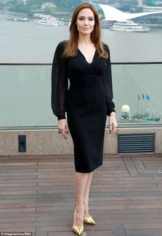 Not discouraged: Angelina will continue to mingle with fans at future premieres...