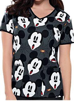Cherokee Tooniforms Mickey Scream V-Neck Scrub Top  Style #  6546MKRM $22.99 http://www.medicalscrubsmall.com/print-scrubs/cartoon-character-print-scrubs/mickey-scream-scrub-top-js.asp