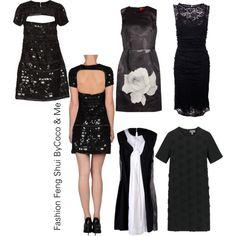 5 sorte fest kjoler byCoco & Me - Natascha Annett Coco Jensen - Fashion Feng Shui Stylisten <3 Polyvore, Fashion, Fashion Styles, Moda, Fasion