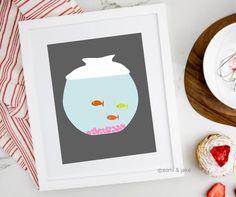 Fish Illustration, Printable Art, Illustration Art, Art, Card Illustration, Digital Prints, Color