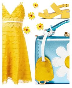"""April showers bring May flowers"" by sharmarie ❤ liked on Polyvore featuring Mark Cross, Giambattista Valli and Love Moschino"