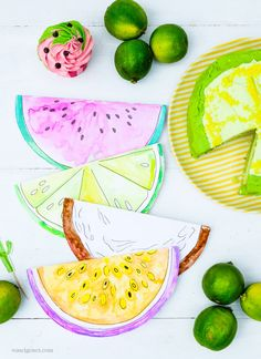 DIY Aquarell Einladungskarten: Limette, Kokosnuss, Wassermelone und Maracuja, waseigenes.com Plastic Cutting Board, Pot Holders, Giveaway, Summer, Watermelon Cupcakes, Exotic Fruit, Cookie Box, Coffee Meeting, Potholders