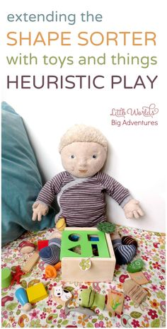 Heuristic Play Toy Posting, a Fun Fine Motor Activity for Babies | Little Worlds Big Adventures