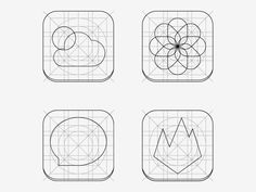 Dribbble - iOS 7 Grid Icons by Michele Meggiolan