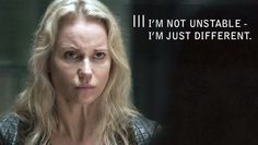 The bridge,a brilliant t.v. Show. She does remind me of some one,now who could that be....FROG.../actress Sofia Helin,who plays Saga Noren