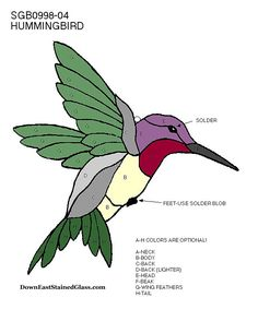 stained glass humming birds - Google Search