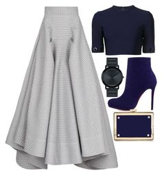 Grey, Blue & Gold by carolineas on Polyvore featuring polyvore, fashion, style, Thierry Mugler, Maticevski, Christian Louboutin, Valentino, Movado, women's clothing, women's fashion, women, female, woman, misses and juniors