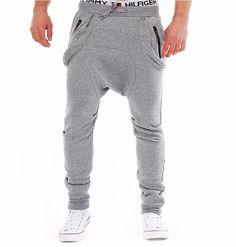 Loose Harlem Joggers Cotton Solid Comfort Casual Sweatpants