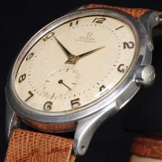 Omega ultra-flat automatic water proof, Reference CK 2374, steel, 1945