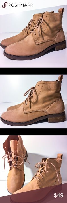 Lucky Brand Norwood Lace Up Ankle Boots 5.5 New New without box - Women's 5 1/2 Medium width - 1 inch heel - Brown - Leather upper Lucky Brand Shoes Ankle Boots & Booties