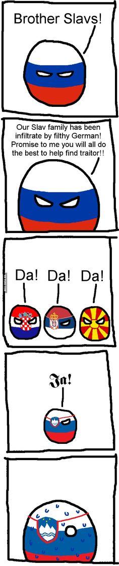 German blood. Slovene language. SEE? Slovakia/Czech Republic is my ultimate favorite, a Germanic-Slavic country. :)