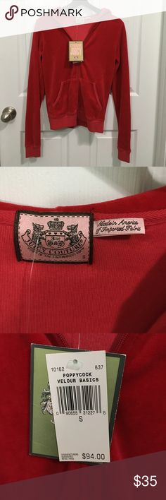 NWT Juicy Couture Velour Jacket NWT Juicy Couture red jacket size Small! 😍   Bundle and save! Juicy Couture Jackets & Coats