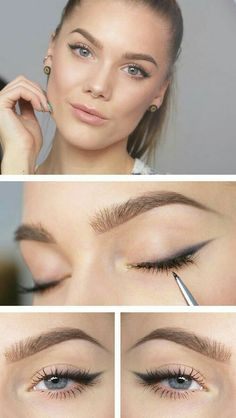Eyeliner for beginners can be a challenge . - Eyeliner for beginners can be a. Eyeliner for beginners can be a challenge . - Eyeliner for beginners can be a challenge, which is why I have 25 bri Beauty Make-up, Beauty Hacks, Beauty Tips, Natural Beauty, Soft Natural Makeup, Natural Glow, Natural Makeup Hacks, Simple Make Up Natural, Pele Natural
