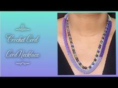 How To Crochet A Cord / Crochet Cord Necklace / Crochet Jwellery - YouTube Crochet Cord, Crochet Stitches, Bag Holders, Crochet Crafts, Dolce, Single Crochet, Crochet Necklace, Board, Youtube