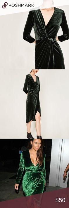 🎉HP🎉 NWT Zara Velvet Crossover Dress Brand new with tags Zara Dresses Midi