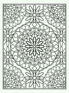 Mandala-type Color page