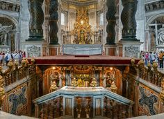 The High Altar, St. Peter's Basilica, Vatican City, Rome, Italy