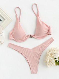 High Leg Underwire Bikini Set
