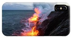 Kilauea Volcano Lava Flow Sea Entry 3- The Big Island Hawaii IPhone Case