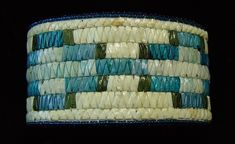 Authentic Native American Indian Hand Made Quill Bracelet , Porcupine Quill with Geometric design. Native Beadwork, Native American Beadwork, Native American Indians, Native American Artwork, Art Articles, Native Design, Nativity Crafts, Ribbon Work, Craft Materials