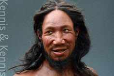 What a friendly face! Reconstruction of a man neanderthal) found in Peștera cu Oase (or The Cave of Bones) in Romania by Kennis & Kennis Reconstructions. European People, European Men, Forensic Facial Reconstruction, Cro Magnon, Prehistoric Man, Uk History, Human Evolution, Forensic Science, Making Faces