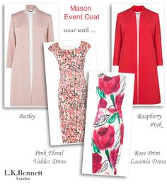 Pink Occasion Coat and Floral Print Shift Dress