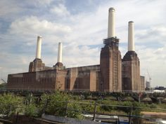 Battersea Power Station seen from the Gatwick Express.