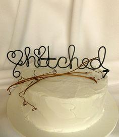 Rustic Wedding Cake Topper Rustic Wedding by HomesAndWeddings