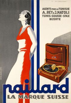 Paillard Phonograph advertisement  courtesy of Vintage Advertising and Poster Art