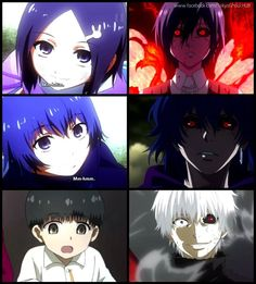 The BEFORE and AFTER pic || Tokyo Ghoul