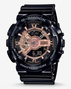 fca16833110b Express G-Shock Rose Gold Analog Digital Watch