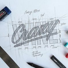 I am a sucker for a good process shot. Type by Typography Drawing, Hand Lettering Art, Hand Lettering Styles, Types Of Lettering, Typography Quotes, Typography Inspiration, Lettering Design, Design Inspiration, Calligraphy Letters