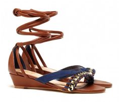 Obsessed with these ankle-wrap sandals.  ($49)