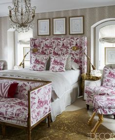 Room of the Day ~ pink and white toile - Megan Winters 4.13.2015