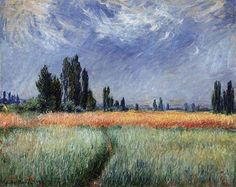 Wheat Field, 1881, Claude Monet