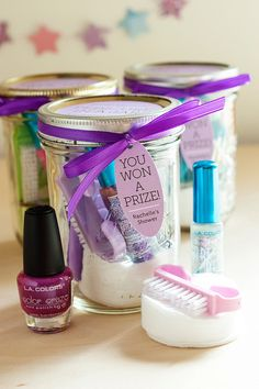 Pedicure in a Jar for Baby Shower Prizes #gift #tags #labels  - SHOP Modern Museo Hang Tags: http://www.evermine.com/all_labels/MM-36/
