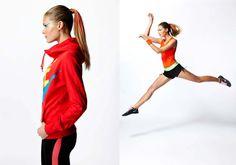 Women, sports, fashion, movement, color,