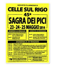 """Sagra dei Pici - Pici Festival, May 23-25, 2014, in Celle sul Rigo, San Casciano dei Bagni (Siena, Tuscany); pici is a traditional home-made pasta of the Siena province; food booths featuring """"pici"""" and other local specialties open at 7 p.m.; live music and dancing from 9 p.m."""