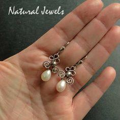 Adorned Pearl Drops 925 Sterling Silver Earrings by NaturalJewels, €37.50