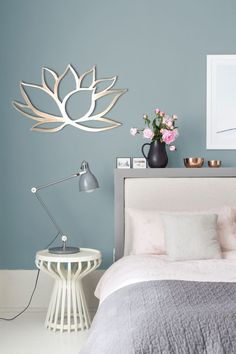Lotus Flower Wall Decor - Silver