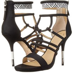 GX By Gwen Stefani Acacia (Black/White Matte Vachetta/Woven) High... (185 RON) ❤ liked on Polyvore featuring shoes, sandals, black, platform sandals, strappy platform sandals, high heel platform sandals, black platform sandals and black high heel sandals