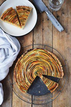 Gemuese Spiral Tarte - Vegetable Spiral Tart   Das Knusperstübchen