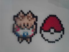 Pokemon Perler Plusle Easter Set by RetroNinNin on Etsy