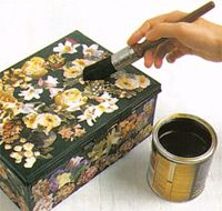 Basic Decoupage - tutorial from Arts and Crafts Center